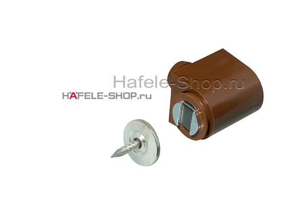 Защелка магнитная, удерживающее усилие 3-4 кг коричневая