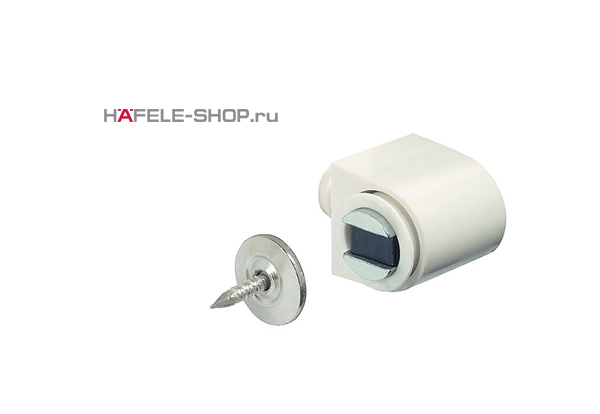 Магнитная защелка мебельная удерживающее усилие 3-4 кг белая