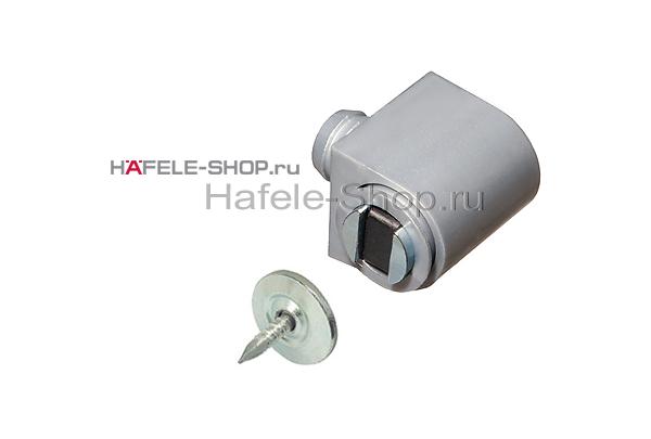 Магнитная мебельная защелка удерживающее усилие 3-4 кг светло-серая