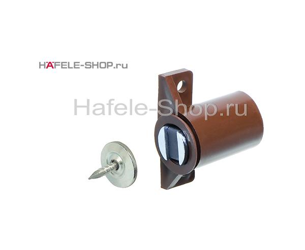Магнитная мебельная защелка удерживающее усилие 3-4 кг коричневая