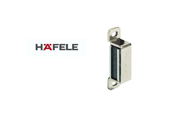 Магнитная мебельная защелка удерживающее усилие 4 кг никелированная