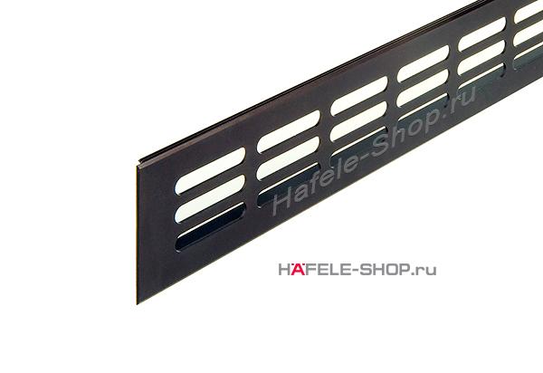 Вентиляционная решетка из алюминия, 400 x 60 мм, цвет темная бронза