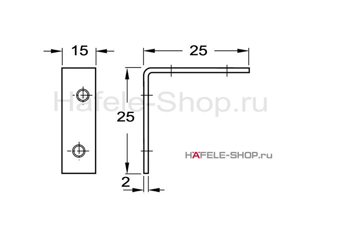 Уголок мебельный 25 х 25 мм