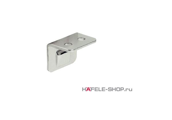Сопряженная деталь мебельной защелки уголок для привинчивания сталь никелированная
