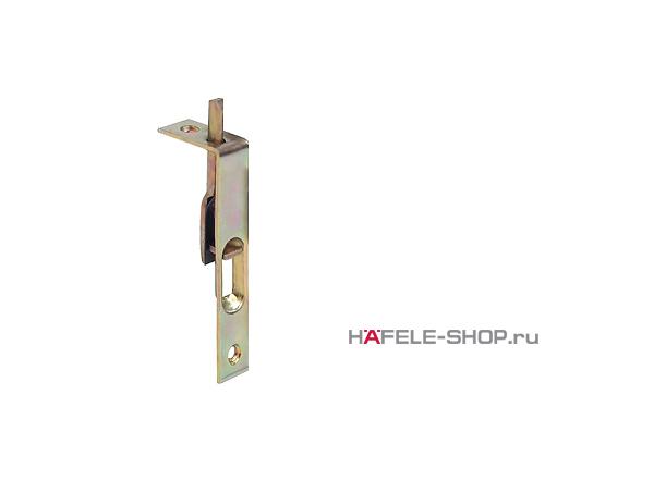 Мебельная задвижка длина 80 мм врезная сталь желтая хроматированная