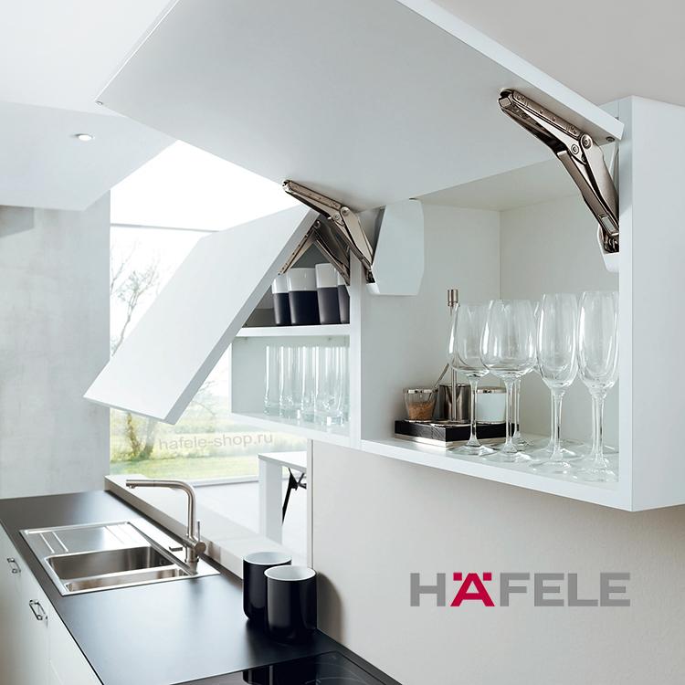 Подъемный механизм для фасада Free flap 1.7, высота фасада 200-450 мм, вес 1,4-7,9 кг*, белый
