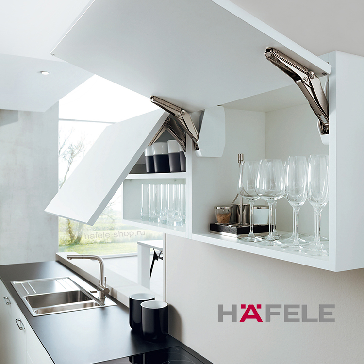 Подъемный механизм для фасада Free flap 3.15, высота фасада 350-650 мм, вес 3,4-14,3 кг*, серый