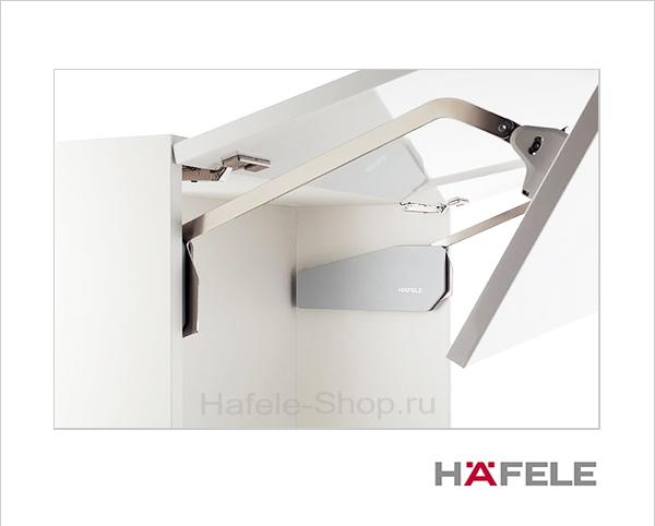 Подъемный механизм складного фасада FREE FOLD. Высота фасада 520-590 мм. Вес  4,8- 9,8 кг.