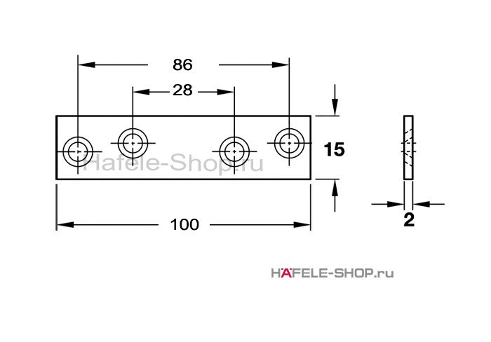 Соединительная пластина 100 х 15 мм