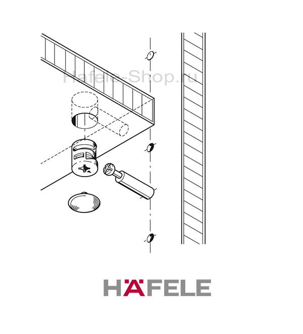 Эксцентрик мебельный MINIFIX 15 без покрытия, для плит толщиной от 19 мм