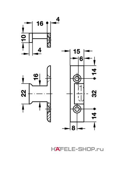 Рамная деталь Keku EHS крепление винтами Varianta диаметром 3,0 или 5,0 мм.
