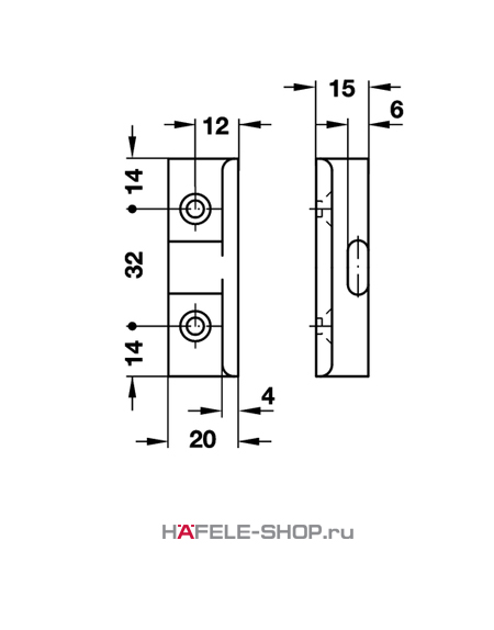 Угловое крепление панели Keku AD,  монтаж винтами Varianta диаметром 3,0 или 5,0 мм.