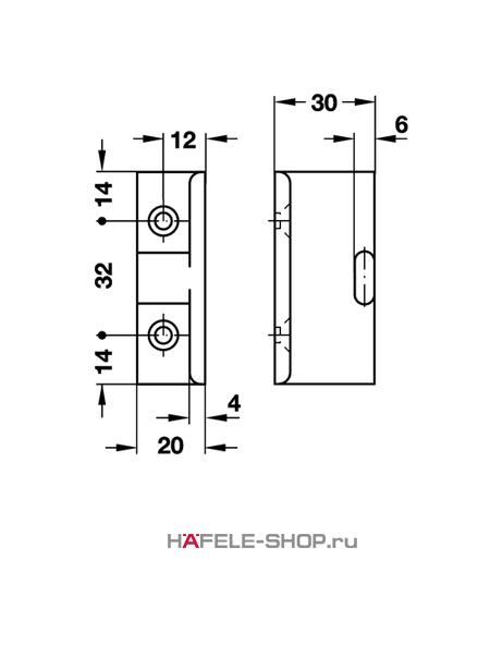 Угловое крепление панели Keku AD 30, монтаж винтами Varianta диаметром 3,0 или 5,0 мм.