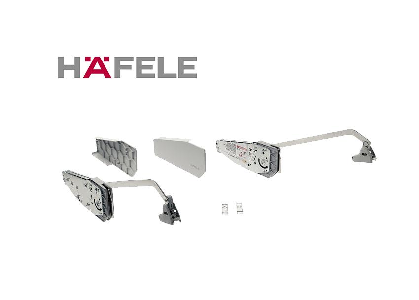 Подъемный механизм складного фасада FREE FOLD. Высота фасада 520-590 мм. Вес  11,8-23,3 кг.