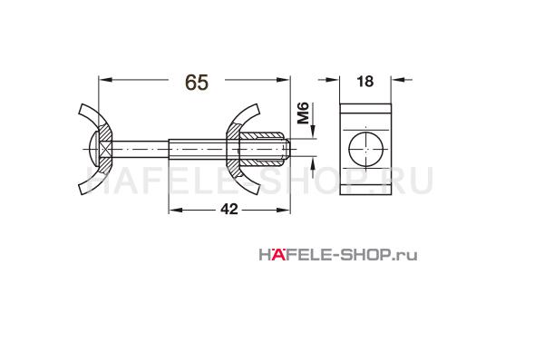 Стяжка рабочих плит, длина болта 65 мм
