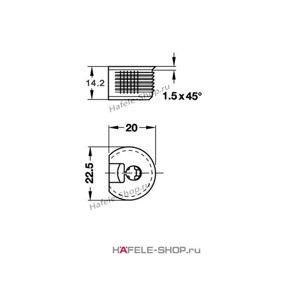 Стяжка мебельная RAFIX 20 белая для деталей толщиной от 19 мм монтаж заподлицо