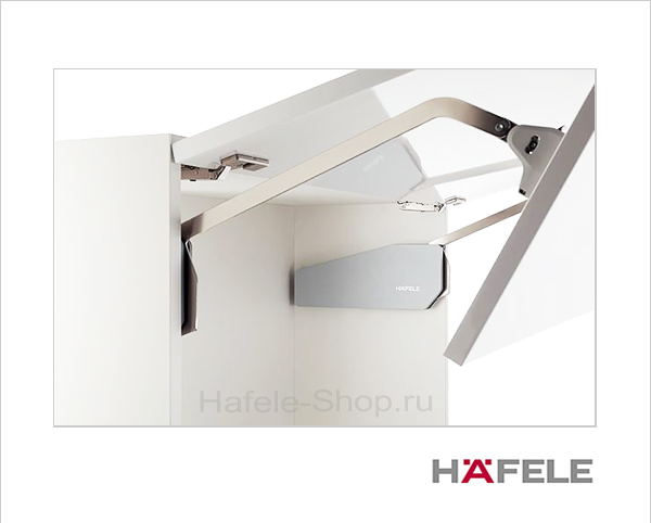 Подъемный механизм складного фасада FREE FOLD. Высота фасада 580-650 мм. Вес  2,2- 4,4 кг.