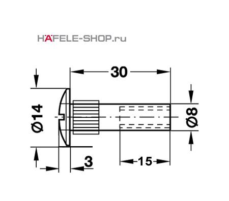 Резьбовая втулка M6 8x30 мм никелированная