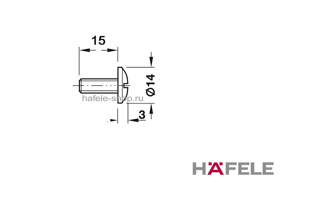 Болт мебельный М6 х 15 мм, никелированный