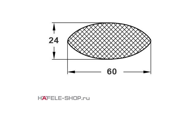 Ламель направляющая К20. Длина 60 мм. Упаковка 250 шт.