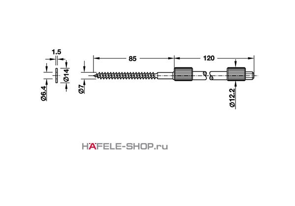Полкодержатель невидимого монтажа для толщины полки от 19 мм