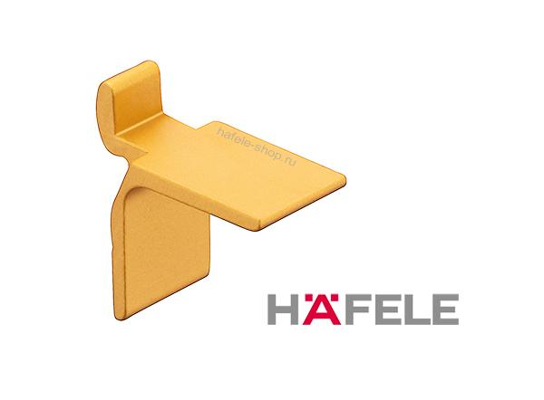 Полкодержатель для шины, алюминий анодированный, цвет золотистый 11 х 18 мм