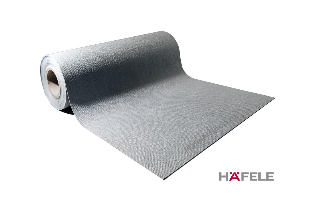 Коврик в выдвижной ящик, серый, текстура холст, для раскроя, ширина 500 мм