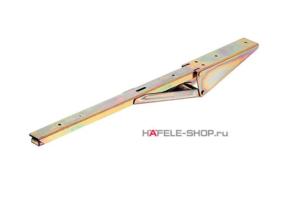 Консоль откидная с несущей способностью 30 кг на пару, сталь желтое хроматирование, длина 280 мм.