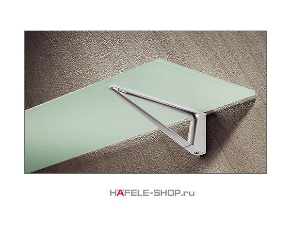 Консоль для полки толщиной 4-45 мм, цвет нержавеющая сталь длина 180 мм
