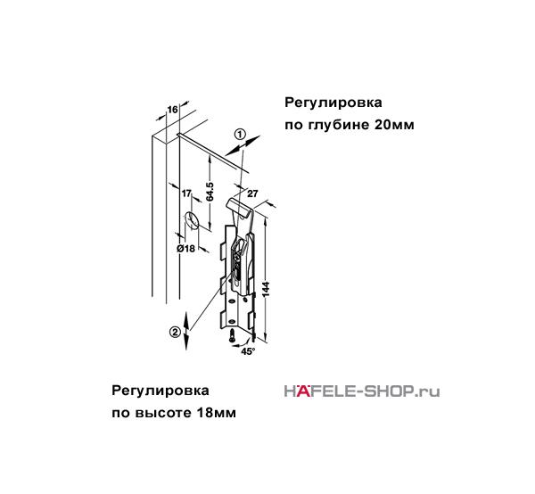 Навес для шкафа регулируемый универсальный (правый и левый). Несущая способность 130 кг. на пару.