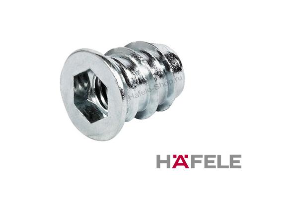 Ввинчиваемая муфта M 6 длина 13 мм для отверстия 8 мм сталь, оцинкованная