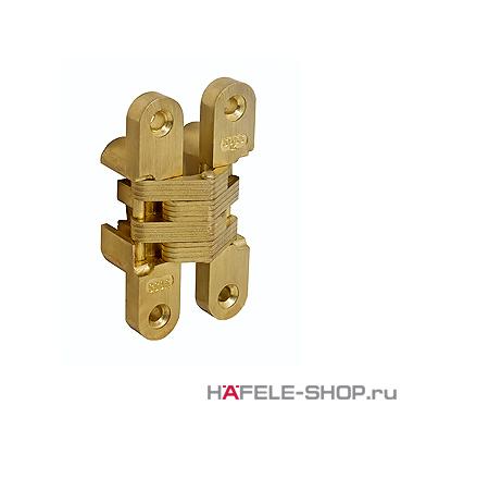 Скрытая мебельная петля Soss для толщины створки 13-16 мм цвет золото