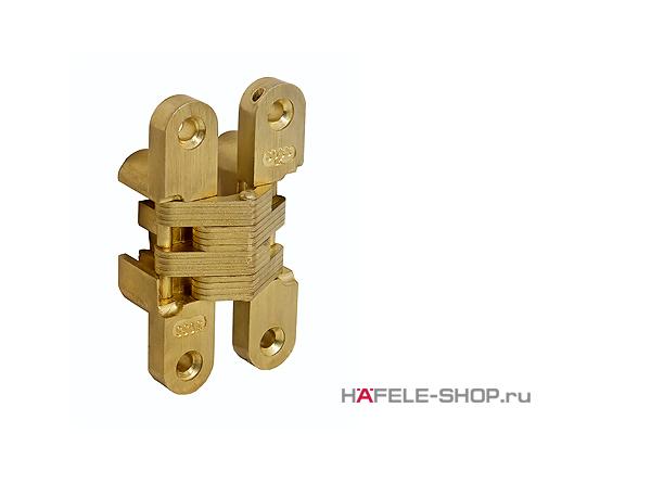 Скрытая мебельная петля Soss для толщины створки 22-26 мм цвет золото