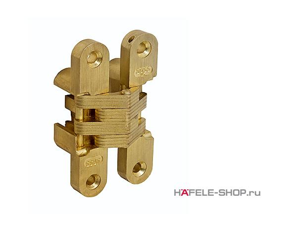 Скрытая мебельная петля Soss для толщины створки 35-38 мм цвет золото