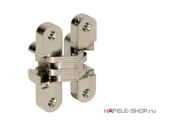 Скрытая мебельная петля Soss для толщины створки 35-38 мм никелированная