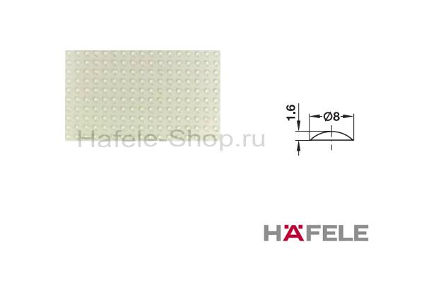 Упорный амортизатор для приклеивания, диаметр 8 мм, высота 1,6 мм, пластина 50 штук