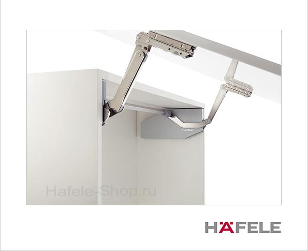 Диагональный подъемный механизм фасада FREE SWING S1sw. Высота фасада 370-500 мм. Вес фасада 1,8- 4,0 кг.