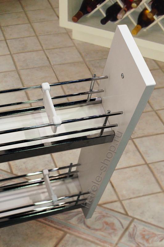 Бутылочница для кухни, BRILLIANT, дно из ДСП белое, покрытие Anti Slip