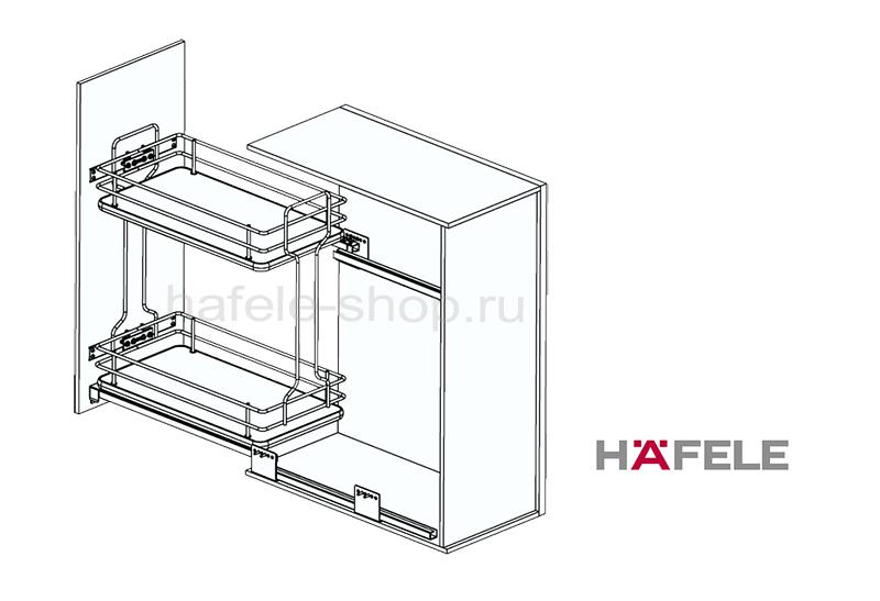Бутылочница для кухни в шкаф шириной 300 мм, ELEGANCE, дно ДСП белое