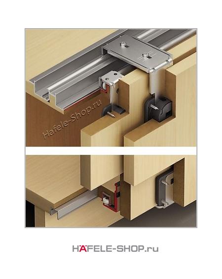 Механизм 2-х раздвижных дверей Slido Classic 40 VF Т. Толщина дверей 16-25 мм.