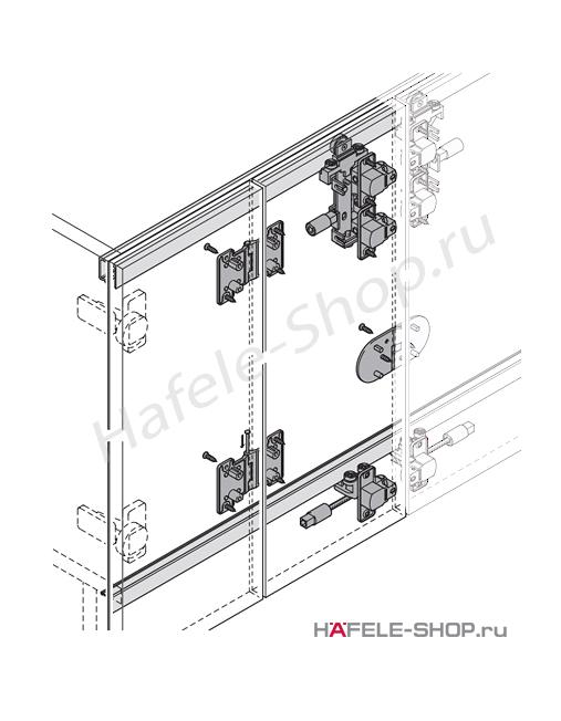 Комплект для 2-х пар складных дверей Slido Fold 25VF fest