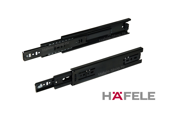 Шариковые направляющие 150 мм, цвет чёрный, несущая способность 45 кг.