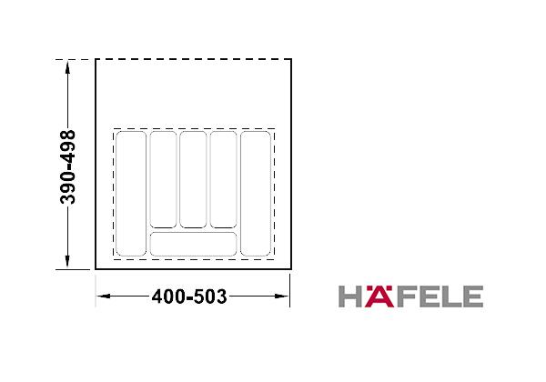 Вставка для столовых приборов, ширина шкафа 500-550 мм, серая