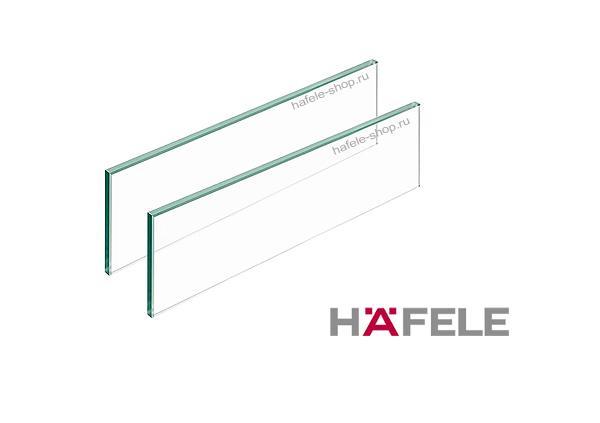 Стеклянная панель, прозрачная, для ящиков Moovit MX длиной 500 мм.