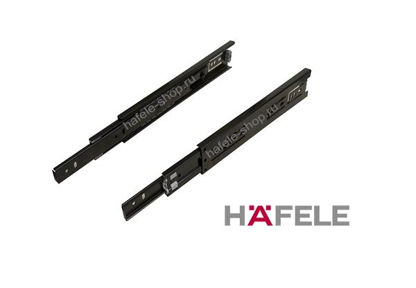 Шариковые направляющие 400 мм полного выдвижения, несущая способность 30 кг, черные