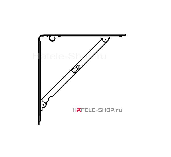 Консоль откидная с несущей способностью 50 кг на пару, сталь, белая, длина 320 мм.