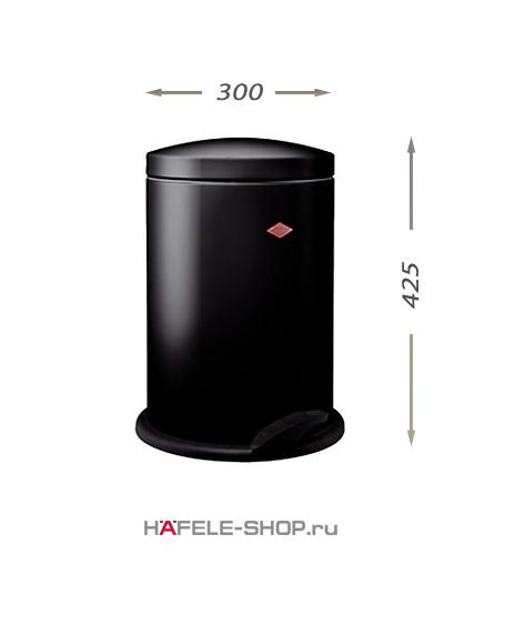 Контейнер для мусора в ванной комнате, 13 литров, цвет чёрный.