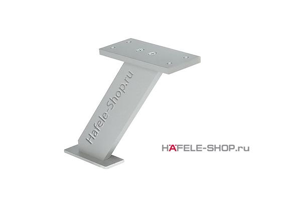 Консоль барная наклонная,  H=170 мм, цвет алюминий