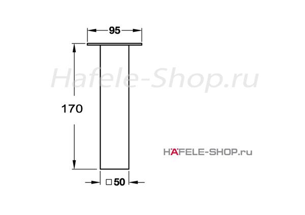 Пилон барный H=170 мм, цвет нержавеющая сталь