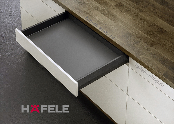Ящик Matrix Box Push 35, высота 92 мм, ширина шкафа до 1200 мм, длина 500 мм, цвет антрацит